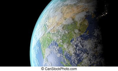 China seen from space