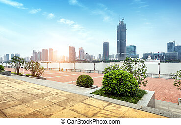 China Shanghai the Bund - North Bund and Huangpu River,...