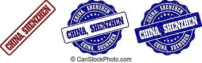 CHINA, SHENZHEN Scratched Stamp Seals