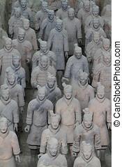 china, terracota, xian, ejército