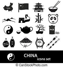 China theme black icons