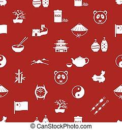 China theme icons pattern