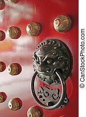 China Town Temple Door Handle Guardian