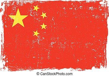 China Vector Flag on White