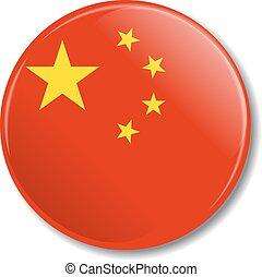 china, vetorial, emblema, illustration., flag.