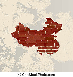China wall map