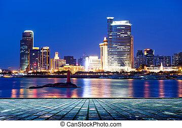China Xiamen night scene