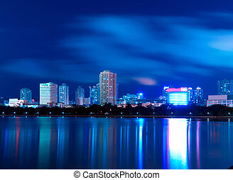China Xiamen night scene - China Xiamen night view from...