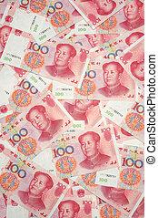 China yuan background - Background of china one hundred yuan...