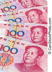 china yuan money. chinese currency - yuan notes from china's...