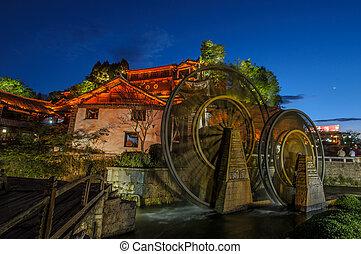 china, yunnan, viejo, molino, lijiang