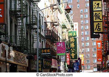 Chinatown street - Traditiona lstreet view in a Chinatown ...