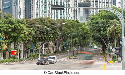chinatown, timelapse., straßen, knotenpunkt, singapore's