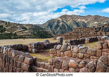 chincheros, gruzy, peruwiański, andy, cuzco, peru