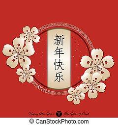 chinees, achtergrond, jaarwisseling