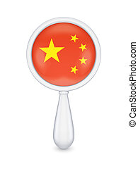 chinees, loupe, flag.