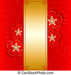 chinees nieuw jaar, begroetende kaart