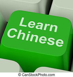 chinees, studerend , online, klee, leren, mandarijn, optredens