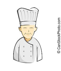 Chineese chef cartoon - a vector illustration of an oriental...