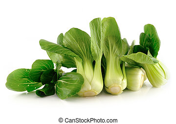 (chinese, aislado, bok, cabbage), choy, blanco