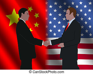 Chinese American business meeting