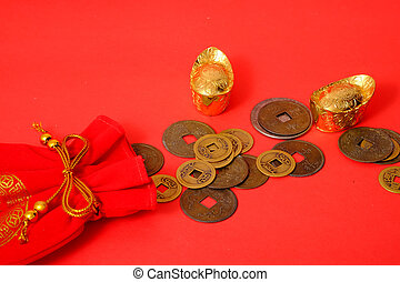 Chinese Ancient Coins and golds