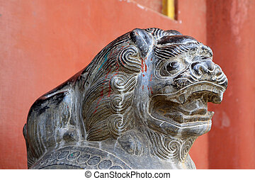 chinese ancient stone carving handicraft