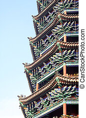 Chinese ancient tower building