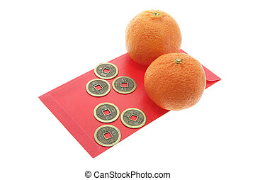 Chinese Antique Coins; Mandarins and Red Packets