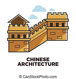 Chinese architecture Great wall travel to China attraction -...