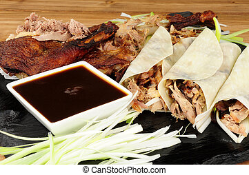 Chinese Aromatic Duck And Pancakes