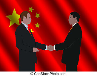 Chinese business men meeting