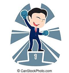 Chinese businessman boxer champion