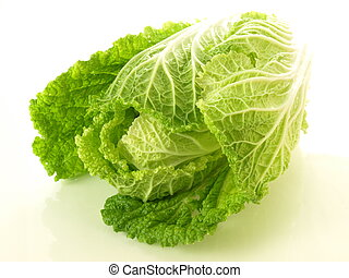 Chinese cabbage - Head of chinese cabbage on isolated...