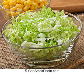 Chinese cabbage - Preparation of salad from Chinese cabbage