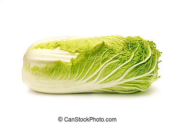 Chinese cabbage isolated on a white...