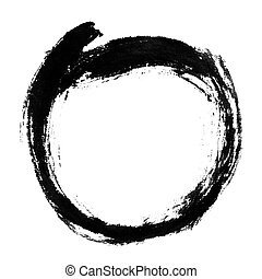 circle shape - Chinese calligraphy circle shape.