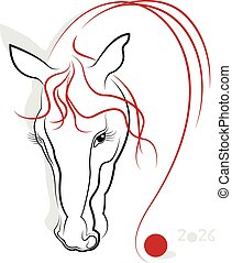 Chinese Calligraphy Horse 2026