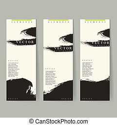 Chinese calligraphy style advertising banner set template