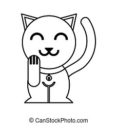 chinese cat lucky icon