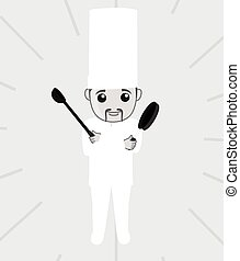 Chinese Chef Character Illustration
