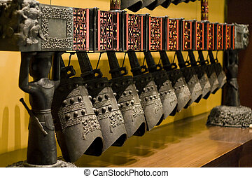 Chinese Chimes - Chinese ancient bronze Chimes in the museum