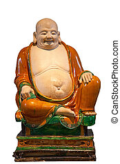 Chinese classical statue of Happy Buddah