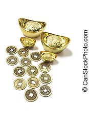Chinese Coins and Gold Ingots