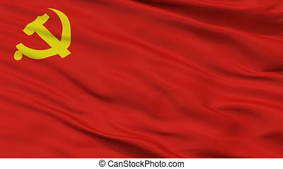 Chinese Communist Party Flag Closeup Seamless Loop - The...