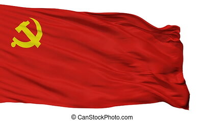 Chinese Communist Party Flag Isolated Seamless Loop - The...