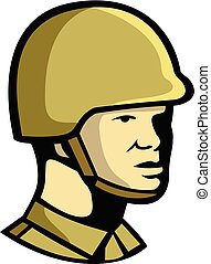 Chinese Communist Soldier Icon - Icon retro style...