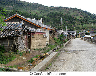 Chinese countryside - Countryside view, houses and...