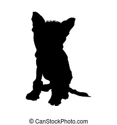 Chinese Crested Dog Silhouette