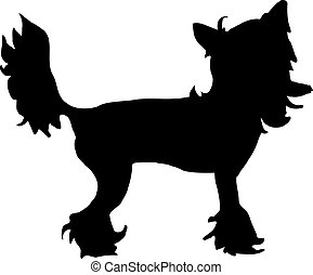 Chinese crested silhouette